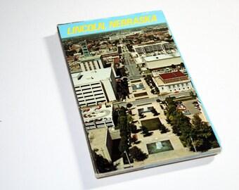 35 Vintage Lincoln Nebraska Chrome Postcards Blank - Wedding Guest Book