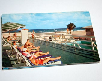 15 Vintage Palm Beach Florida Chrome Postcards Blank - Wedding Guestbook
