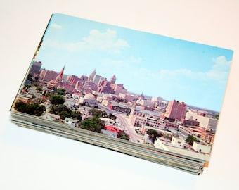 100 Vintage Oklahoma Chrome Postcards Blank - Wedding Guestbook