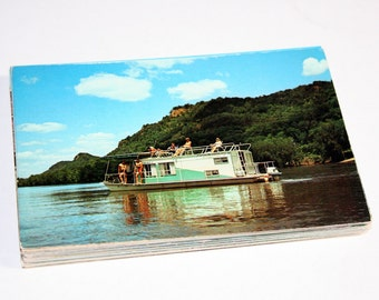 50 Vintage Boat Chrome Postcards Blank - Travel Themed Wedding Guestbook