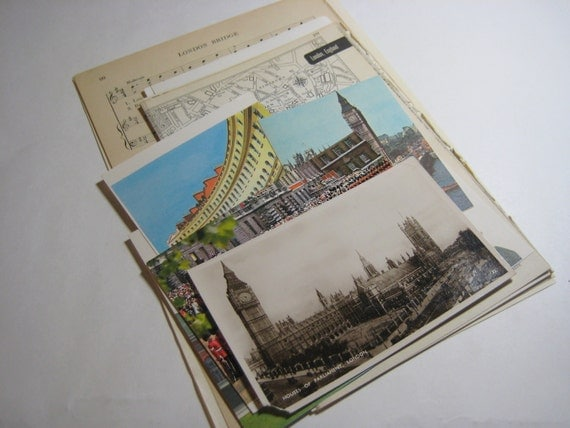 London Travel Ephemera Kit