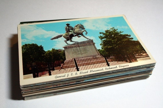 100 Vintage Virginia Chrome Postcards Blank - Travel Themed Wedding Guestbook