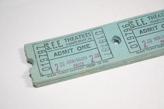100 Vintage Theatre Tickets - Blue