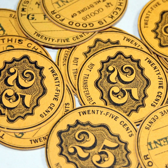 15 Vintage Merchant Trade Tokens
