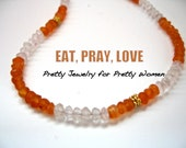 Eat, Pray, Love inspired Carnelian Necklace in gold