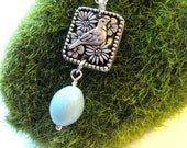 Young Mother Necklace with one robins egg, mother of one, mothers jewelry Bird Necklace Under 40