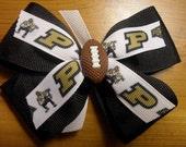 Purdue University Football Hair Bow-Hair Clip