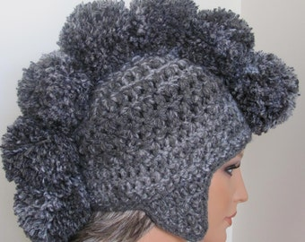 Gray Crochet Mohawk