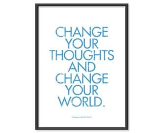 Change your thoughts - 5x7 Typography Print