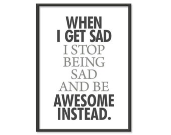 Be Awesome Instead - 5x7 Typography Print