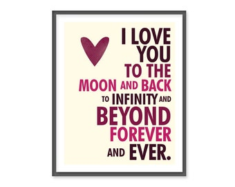 I Love You Forever & Ever - 8x10 Print