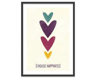 Choose Happiness - 5x7 Print