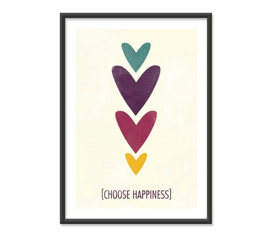 Choose Happiness - 5x7 Print