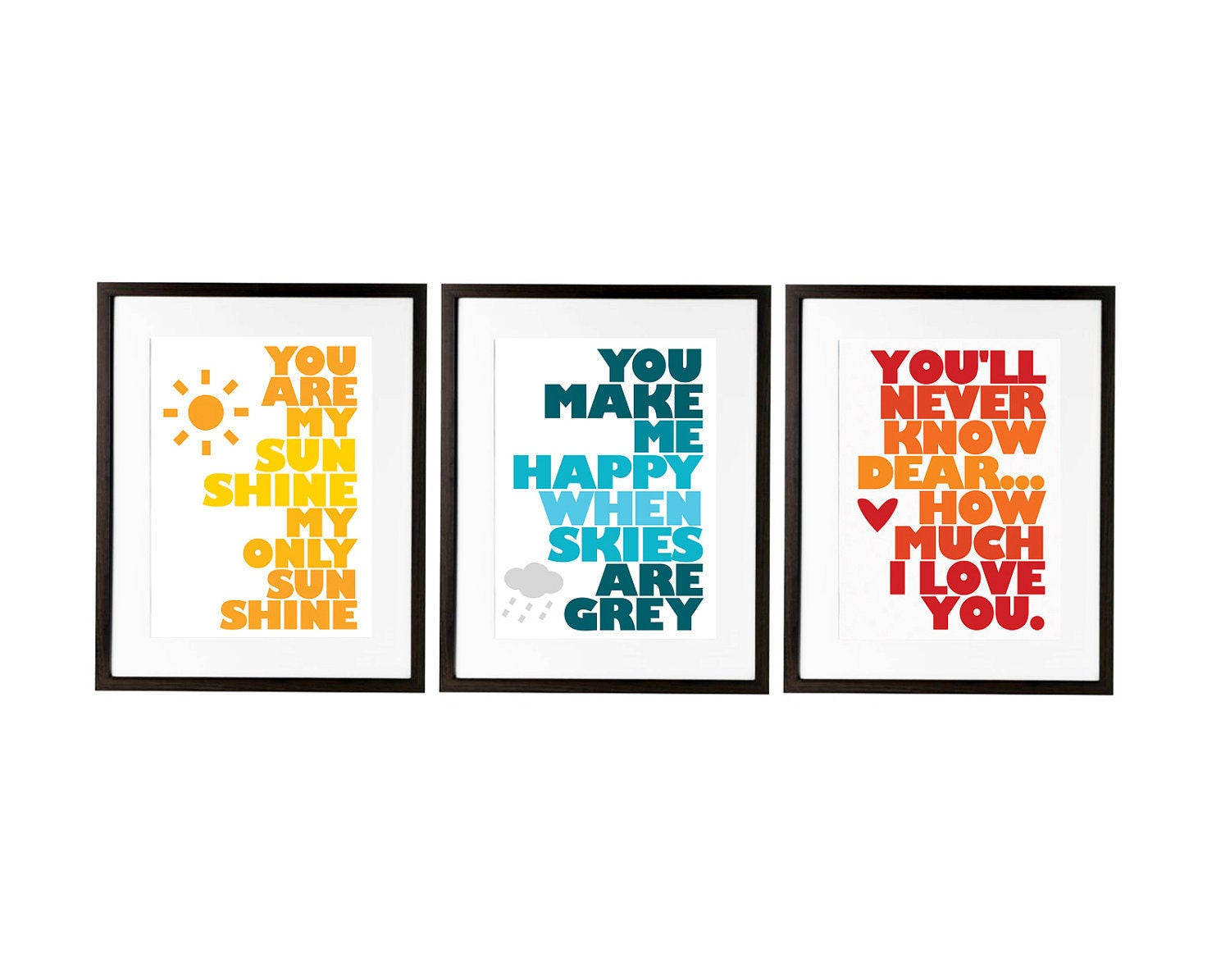 you are my sunshine set of three prints designed for ikea