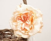 Rustic Flower Girl Basket with Peach Rose