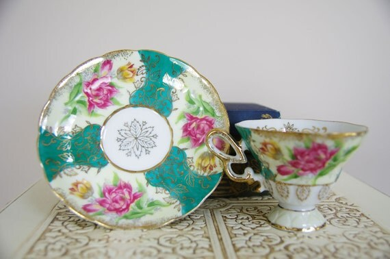 Royal Halsey Very Fine China - Cup and Saucer