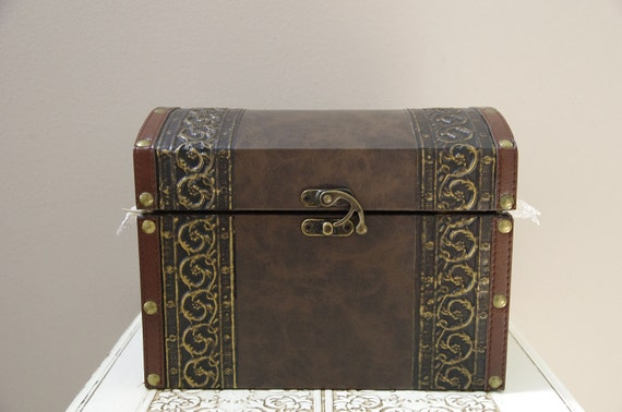 Wedding Trunk Card Box - Vintage travel style