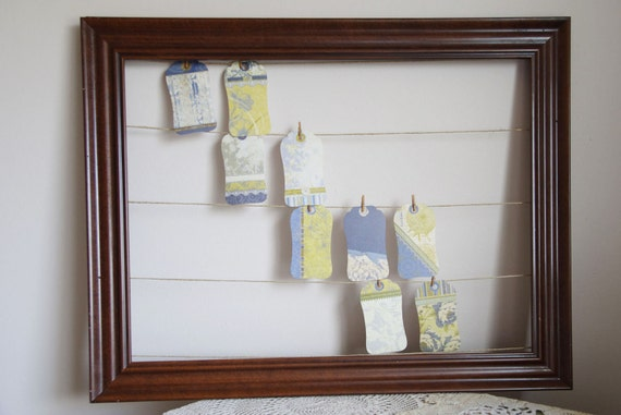 Place Card Display - Wood Picture Frame