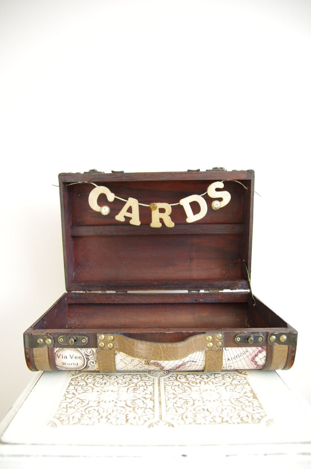 vintage vintage style wedding card box