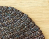 Handmade Crochet Beanie Hat in Warm French Roast Brown - Men, Women, or Teens - Perfect for Skiing, Snowboarding, or Snowshoeing