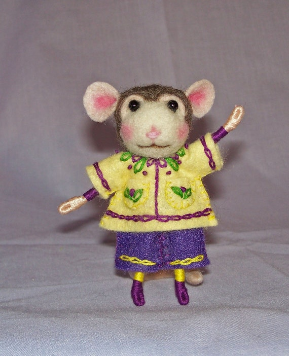Needle Felted Mouse Custom Made for You - FREE SHIPPING to US and Canada