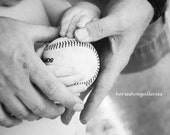 Poster sized 24x36 Print Daddy Baby Baseball