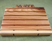 Handcrafted Wooden Soap Dish, Cedar