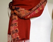 ZAHARA Scarf (Red/Brown/Purple)