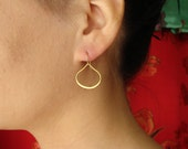 Teardrop Earrings on Gold Vermeil and Gold Filled