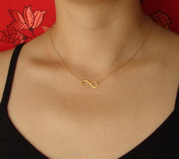 Infinity Necklace in Gold Vermeil and Gold Filled