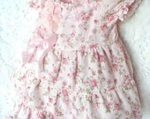RESERVE Listing for Andrea--- Sweet Shabby Pink  Lace and Ruffles Outfit