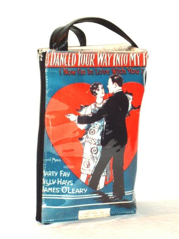 1925 retro paper SHOULDER BAG with strap