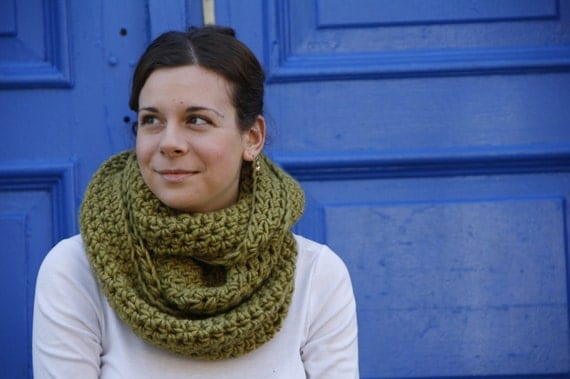 Hand Crocheted Snood Scarf