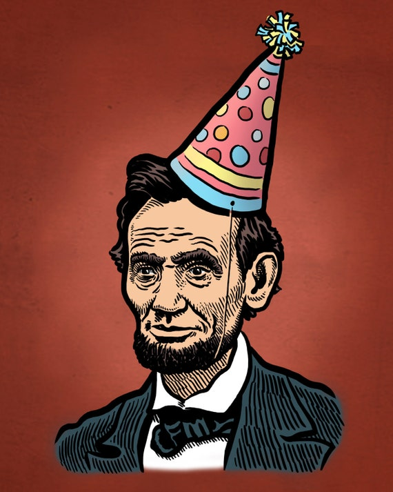 abe lincoln birthday print by mariozucca on etsy abe lincoln clip art black and white abraham lincoln clip art silhouette