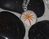 Vintage Hawaiian Palm Tree Silver Necklace by Just Beachy Jewelry