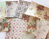 VINTAGE WALLPAPER  PACK. 1940s to early 1950's 13 Pieces Vintage Paper, For Collage, Mixed Media, Art and Crafts. 125