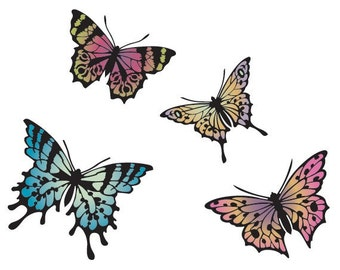 Colorful Butterfly Stencils for Wall, Furniture, and Fabric Stenciling. More Artistic Than Wall Decals and Cheaper Than Wallpaper :)