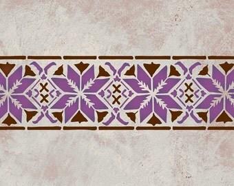 Moroccan Star Border Stencil for Wall Decor and More