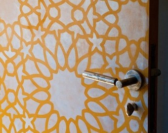 Large Reusable Wall Stencil Intricate Zelij Allover Moroccan Stencil for DIY Decorating