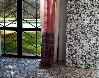 Wall Decor Moroccan Stencil Intricate Zelij Allover Stencil for Wall and Furniture Decoration