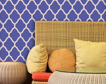 Moroccan Style Decor Wall Stencil Trellis Pattern for DIY Wallpaper Home Decor