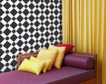 Wall Stencil Moroccan Decor - Large Geometric Star Diamonds Resuable Stencil for Wall Decor, Furniture and Fabric Stenciling