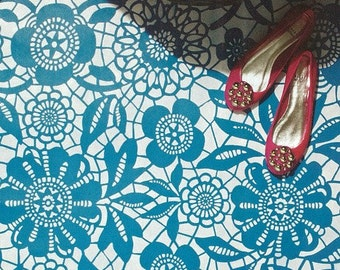 Wall Pattern Stencil Skylar's Lace Allover Stencil for Wall Decor and More