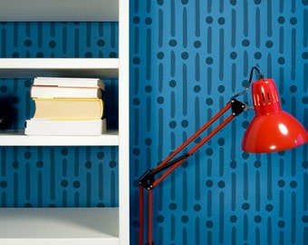 Wall Stencil Morse Code Modern Allover Stencil Large for Modern Painted Wallpaper Look