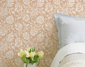 Wall Stencil Large Allover Brocade for Wall Decor and More