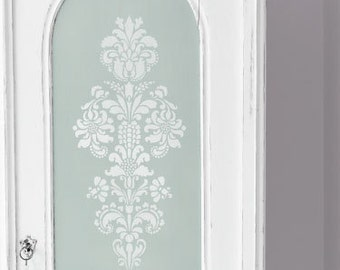 Wall Pattern Stencil Delicate Floral Panel A for Wall Decor