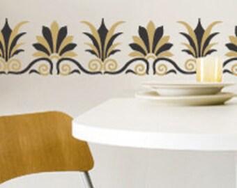 Painted Wall Border Pattern - Greek European Stencils for DIY Wall Designs