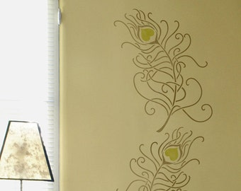 Resuable Wall Stencils Large Peacock Feather Stencil for Modern DIY Wall Decor