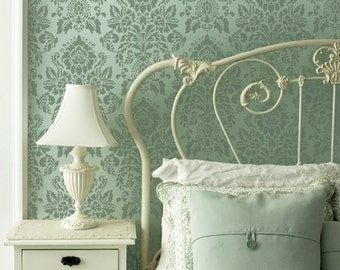 Wall Stencils Vintage Antoinette Damask Pattern Stencil for DIY Painted Wallpaper - Shabby Chic Wall Art Decor