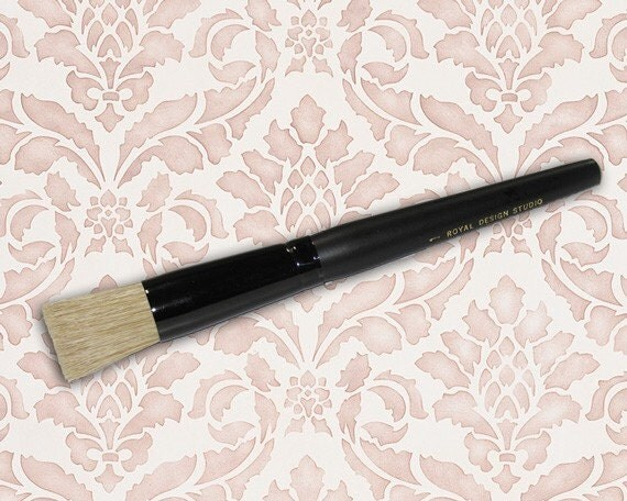 1 inch Pro Stencil Brush for Allover Wall Stencils Easy Wall Stencil Techniques and Perfect Stenciling